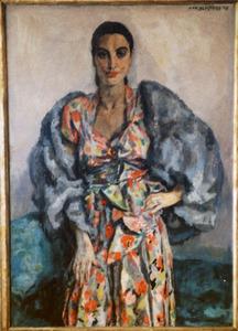 Portret van mevr. G. Verschoor van Nisse (1909-....)