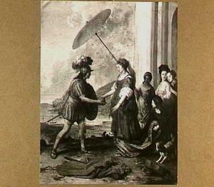 Theseus ontvangt de kluwen van Ariadne