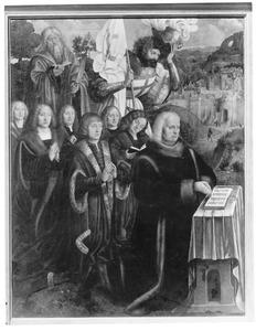 Retabel van de familie Brömse: Nicolaes Brömse en zijn zonen met heiligen