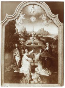 Symbolische voorstelling van het bloed van Christus, toegepast op de zielen in het vagevuur, Fons Pietatis