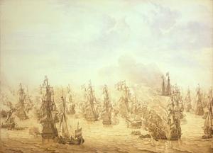 De zeeslag bij  Scheveningen (Ter Heide)