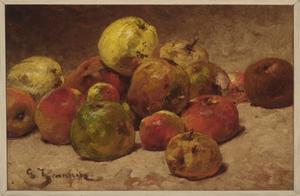 Stilleven met appelen