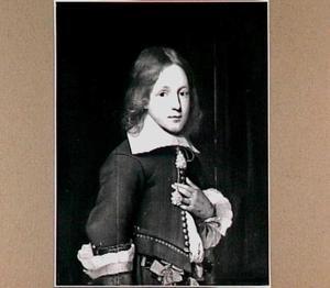 Portret van een onbekende jongen in grijs costuum