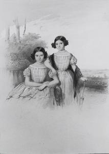 Portret van Abigael Mendes (1840-1905) met haar zusje