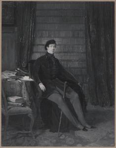 """Portret van Johannes Kneppelhout (1814-1885), pseudoniem """"Klikspaan"""""""