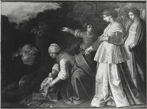Mozes getoond aan de dochter van de farao