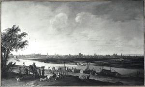 Gezicht op de Seine bij Parijs, gezien vanuit het westen