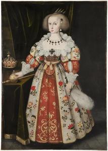 Portret van koningin Christina van Zweden (1626-1689) als kind