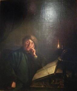 Portret van de astronoom en maker van telescopen Christian Gärtner (1705-1782)