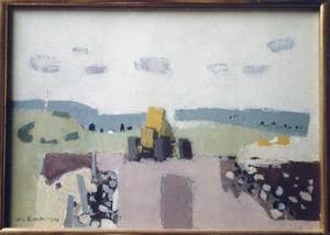 Bulldozer in Cantal
