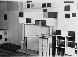 Het atelier van Piet Mondriaan na zijn overlijden