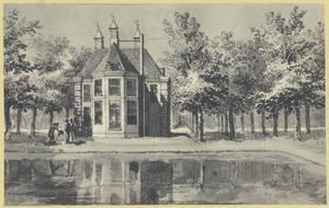 De achterzijde van het huis Rooswijk in Velsen-Noord (tegenwoordig Staalstraat, Hoogovens/Corusterrein)