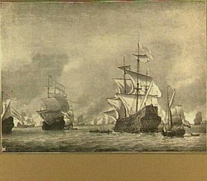 Verovering van het Engelse admiraalsschip de 'Royal Prince', 13 juni 1666, tijdens de Vierdaagse Zeeslag, 11-14 juni 1666: episode uit de Tweede Engelse Oorlog (1665-1667)