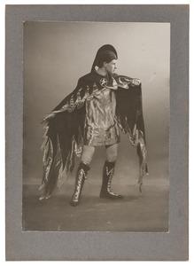 Portret van Barend ter Haar Romeny als Belial in het toneelstuk 'Lucifer' van Vondel