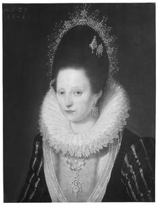 Portret van Agnes van Aeswijn (1579-1609)