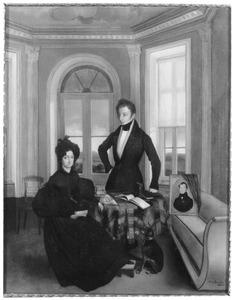 Portret van Henriette Sophia Sirtema van Grovestins (1786-1853) en Louis Cornabe (...-...)