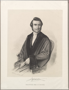 Portret van Johannes Henricus Scholten (1811-18850