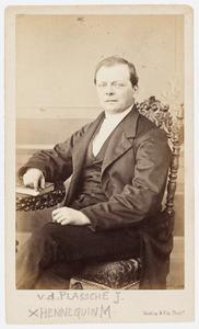 Portret van Izak van de Plassche (1825-1870)