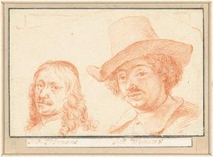 Portretten van Jan Baptist Weenix (1621-?) en Simon Peter Tilman (1601-1668)