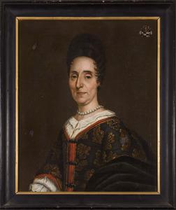 Portret van Ermgard Judith van der Schueren (?-1706)