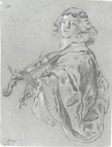 Studie van een vioolspeler
