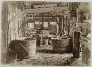 Kuipen in een papierfabriek