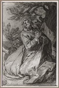 H. Bonosus biddend in de woestijn