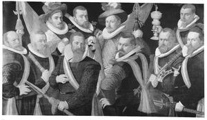 Officieren en vaandeldragers van de Jonge Schutterij, Alkmaar 1605