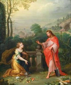 Christus verschijnt aan MAria MAgdalena als tuinman: Noli me tangere