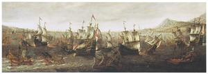 Een zeeslag met galeien