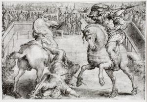 Giovanni delle Bande Nere doodt zijn tegenstander in een tweegevecht