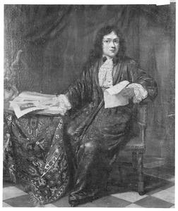 Portret van een kunstenaar, waarschijnlijk Willem Verschuring (1660-1726)