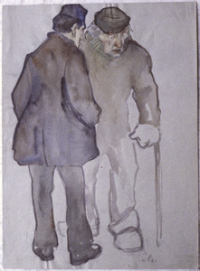 Twee oude mannen op straat