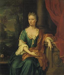 Portret van Johanna van Groenewegen-Staal (1684-1736)