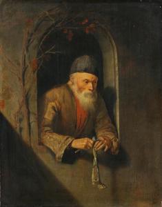 Oude man met een haring