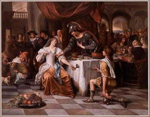 Het feestmaal van Marcus Antonius en Cleopatra
