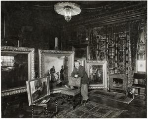 Albert Neuhuys in zijn atelier aan de Sarphatikade 6, Amsterdam
