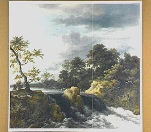 Landschap met een waterval