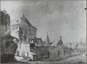 Gezicht op St. Gereon te Keulen gezien vanaf het noordwesten