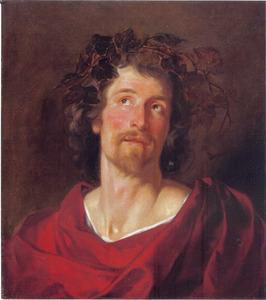 Portret van een man als de god Bacchus