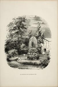 De fontein met de heilige ibis
