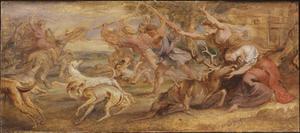 Ascanius doodt het hert van Silvia