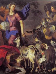 Het vertrek van Rebecca naar Isaak (Genesis 25:56-61)