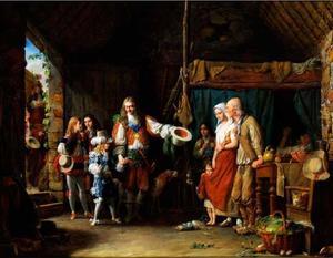 Bezoek van de Grote Dauphin en de hertog van Montausier