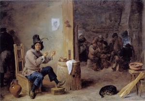 Rokende man in een herberg
