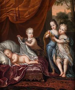 Karl XII (1682-1718) met zijn broers en zijn zus