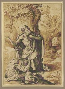 Boetende H. Hieronymus in de woestijn