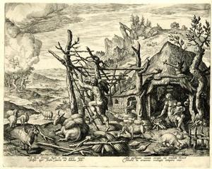 Cain met zijn vrouw en zoon Enoch