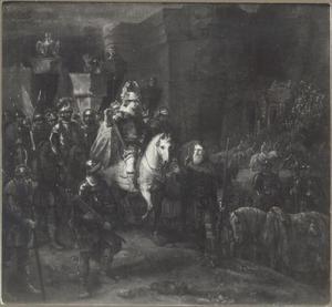 Quintius Fabius Maximus bezoekt zijn zonen in het kampenement bij Suessa