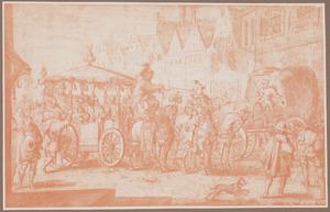 De moord op koning Hendrik IV van Frankrijk door Francis Ravaillac op 14 mei 1610
